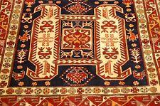 c 1930s Antique Caucasian Kazak Lankoran Design Caucasian Rug 4.4x9.10 Kork Wool