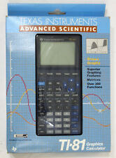 Vintage Texas Instruments TI-81 Advanced Scientific Graphics Calculator w/ Box