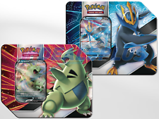 Pokemon Tcg V arietes Estaño V Tyranitar V & Empoleon V Conjunto de 2 Latas