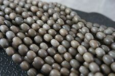 6mm x 9mm Oval Grey wood Premium Wood Beads 40 beads per pack