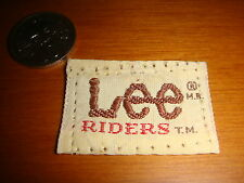 1974 Lee® Jeans Cloth Tag, Small Collectible Item, Nice!