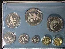 1974 Coinage of Belize 8 Coin Proof Set Original Case COA Franklin Mint Birds