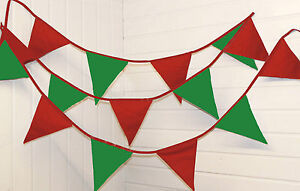 Christmas bunting ** festive red and green ** Made in UK **