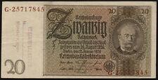 Ro.174f 20 Reichsmark 1929 (3) belgischer Lagestempel