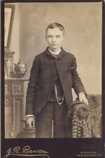 CABINET CARD YOUNG MAN WITH WATCH AND CHAIR ALLEGHENY CITY, P.A.