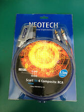 Neotech Scart To 6 Composite RCA Video 1.5M Scart to 6 composite RCA Video