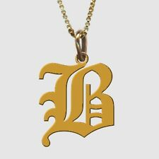 GOLD PLATED Personalised Handmade Initial Pendant ANY LETTER of your choice