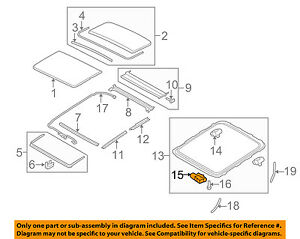 VOLVO OEM 10-15 XC60 Sunroof Moon Roof-Motor 31442109