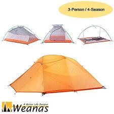 Weanas 2 Person 4 Season Waterproof Backpack Double Dome Tent Camping Ultralight