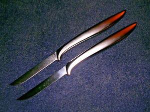 "2 Fine Vintage Gerber Legendary Blades Miming 3-1/4"" Paring Knives! Classic!"