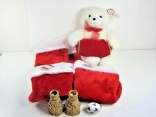 Christmas Zales Gund Bear Ganz Gold Foil Candlesticks Porcelain Limoges Stocking