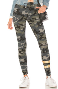 Sundry Women's Foil Stripes Camo Yoga Pants in Multi Size 2/MEDIUM