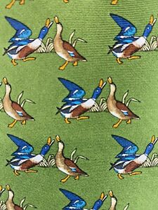 NWT Brooks Brothers National Audubon Society Necktie Ducks Green Tie
