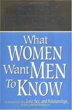 What Woman Want Men to Know: The Ultimate Book About Love, Sex, and-ExLibrary