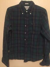 Abercrombie Flannel Green Plaid Muscle Shirt Men's Size Large