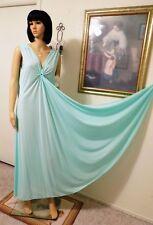 LUCIE ANN vintage NWT Nylon Antron KEYHOLE Grecian Nightgown MINT size L large