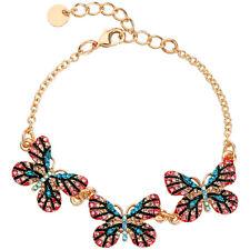 Betsey Johnson New Fashion Alloy Rhinestone Insects Butterfly Bracelet Jewelry