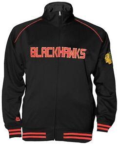 Chicago Blackhawks NHL Mens Full Zip Center Ice Track Jacket Big & Tall Sizes