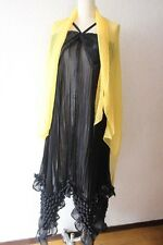 ISSEY MIYAKE SILK BLACK DRESS Unique Pop corn bubble detailes Party!