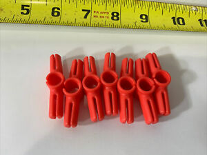 Plastic Tinker Toys Parts Lot: 7 Pink CONNECTOR CLIP Peg Replacement Pieces