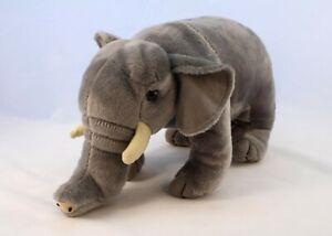 Fiesta- Elephant Plush A45628 Wildlife 29cm Soft Toy Realistic Wild Animal