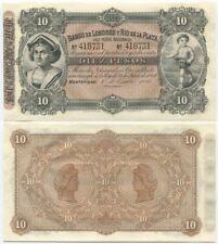 Uruguay Banco de Londres y Río de La Plata 10 Pesos 1883 (P-S242r) UNC