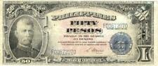 Philippines U.S. Administration 50 Pesos Currency Banknote 1944