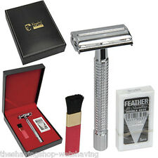 Kingsley Shave Set for Men with Long Handle Double Edge Safety Razor