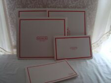 5 COACH Store Gift EMPTY Boxes