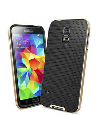 SAMSUNG S5 STEALTH GOLD NEO HYBRID SHOCK COVER PHONE CASE LIKE SPIGEN LIFEPROOF