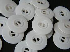 Blusenknöpfe 25-100 St. Ø 10mm Weiß-Matt Perlmutt-Effekt Wäscheknöpfe