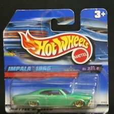 1 NEW HOT WHEELS SHORT CARD IMPALA 1965 GREEN GOLD LACE 3/4