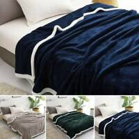 Large Soft Warm Lamb Flannel Blankets Cuddly Throw Sofa Double King Bed Bedding
