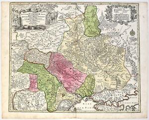 Tobias C. Lotter: Amplissima Ucraniae Regio. (um 1762). Altkol. O.-Kupferstich.