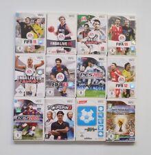12 Wii Sport Spiele: Pro Evolution Soccer, Fifa, NBA Live, Top Spin Nintendo Wii