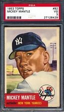 1953 Topps — Mickey Mantle #82 — PSA 3 — HIGH END