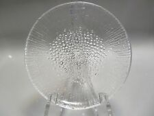 "MULTIPLES AVAILABLE,MCM ULTIMA THULE IITTALA FINLAND 7.25"" GLASS SALAD PLATE"