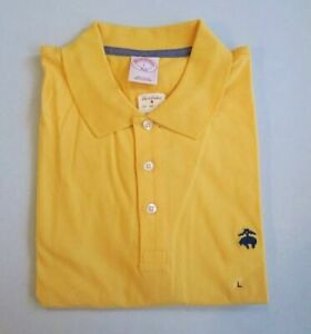NWT 346 BROOKS BROTHERS Men's 100% Cotton Short Sleeve 3 bottom Polo Rugby Shirt