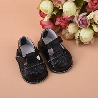 Handmade Doll Schwarze PU Schuhe Kleidung für 16 Zoll Mädchen Puppe Schuh Q V8A2