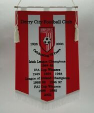 Derry City Football Club 1928 Embroidered Pennant Gagliardetto Ricamato Wimpel