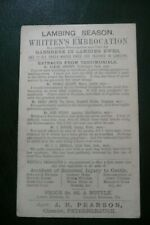 More details for pre-stamped victorian postcard advert. whitten`s embrocation peterborough
