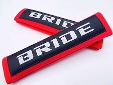 JDM KEYS RACING RED BRIDE DRIFT SEAT BELT SHOULDER PADS COVERS