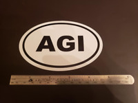 AGI Oval Sticker Aviation Pilot Aircraft Cessna Piper Cirrus Diamond Mooney
