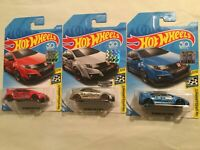 2018 Hot Wheels '16 Honda Civc Type R Lot of 3 with Walmart ZAMAC Factory Sealed