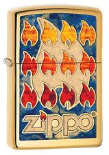NEUHEIT 2017 ZIPPO Feuerzeug ZIPPO LOGO IN FUSION High Polished Brass NEU OVP