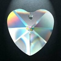 5 Clear Lead Crystal Heart Chandelier Crystals 28mm Prism Suncatcher