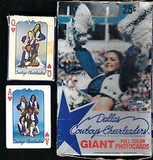 1981 TOPPS DALLAS COWBOYS CHEERLEADERS BOX 36 PACKS + 1979 PLAYING SET