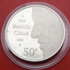 Niederlande-Netherlands: 50 Gulden 1991 Silber, KM# 215, PP-Proof, #F1630