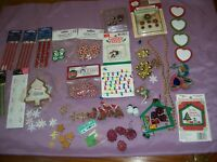 A Lot Of Mini Christmas Collection Craft Doll House Gingerbread Ornaments + More