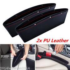 2x PU Leather Catch Catcher Box Caddy Car Seat Gap Slit Pocket Storage Organizer